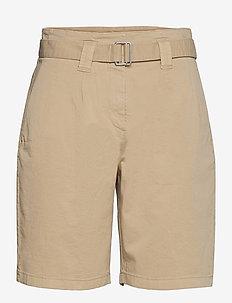 LR-NOBELLA - chino shorts - l117 - oxford tan
