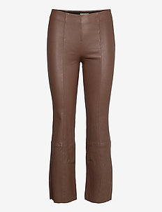 LR-GLORIA - spodnie skórzane - l820 - carafe