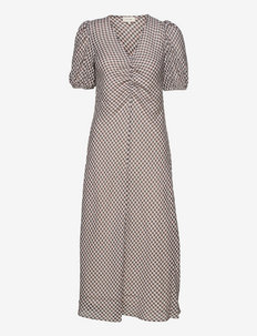 LR-OBY - midi kjoler - l111c - antique white combi