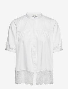 LR-ISLA SOLID - kortærmede bluser - l100 - white