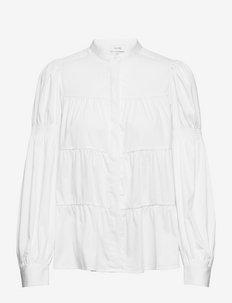 LR-ISLA SOLID - langærmede bluser - l100 - white