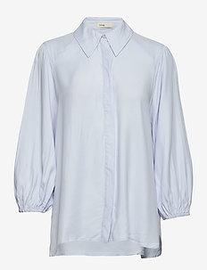 LR-HILDE - bluzki dlugim rekawem - l201 - light soft blue