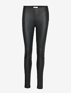 LR-GLORIA - spodnie skórzane - l999 - black