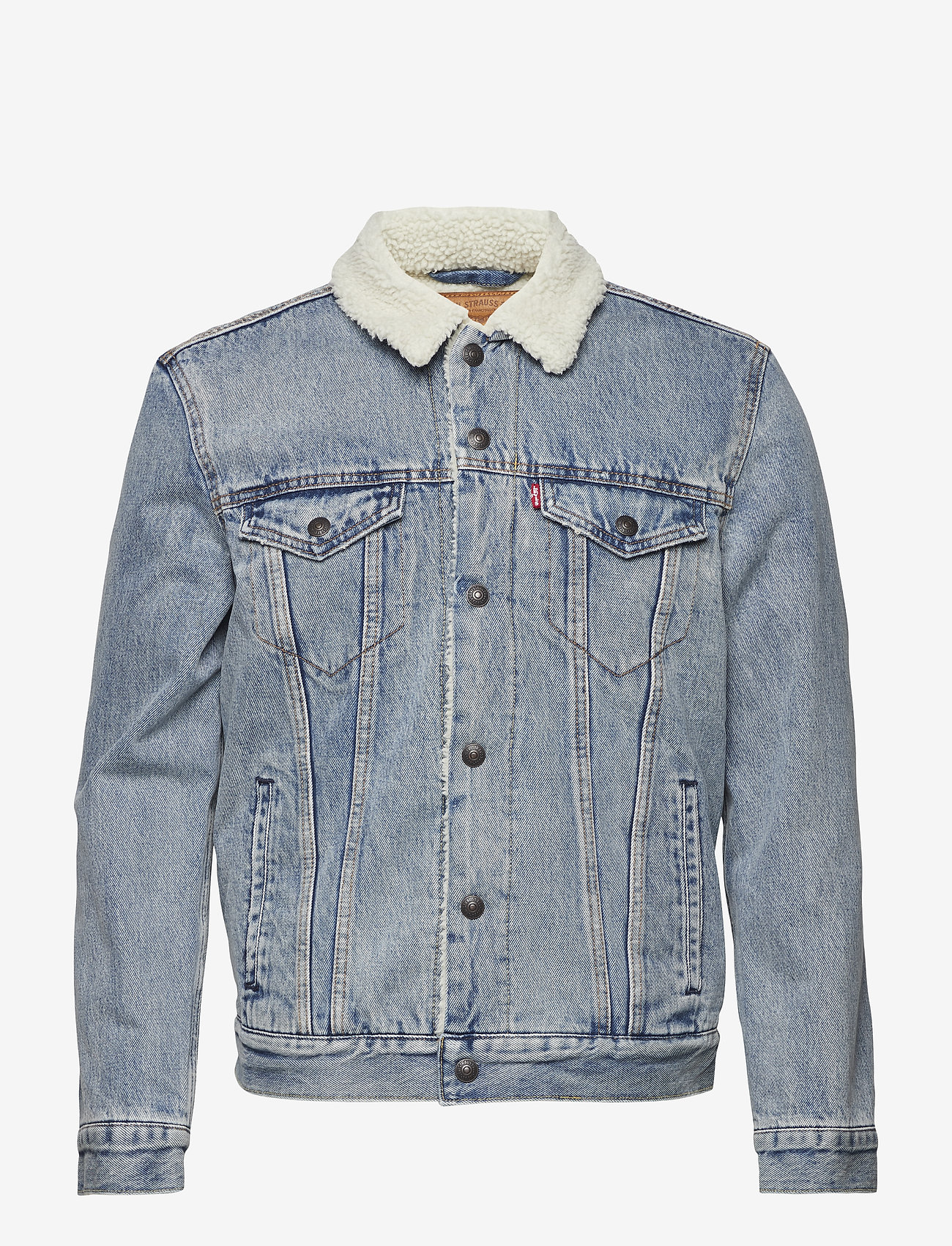 LEVI´S Men - TYPE 3 SHERPA TRUCKER STONEBRI - denim jackets - med indigo - worn in - 1