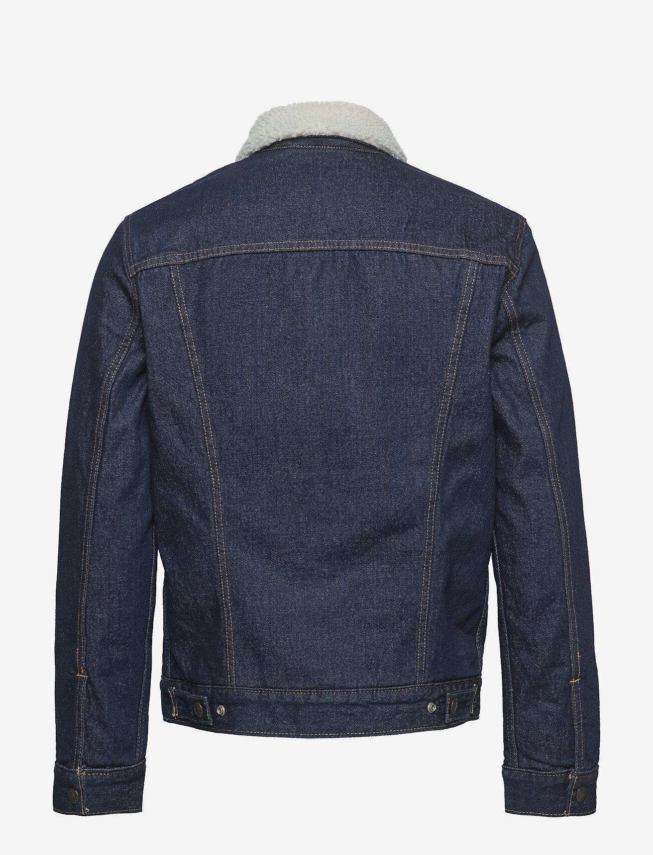 LEVI´S Men - TYPE 3 SHERPA TRUCKER ROCKRIDG - jeansjackor - med indigo - worn in - 1