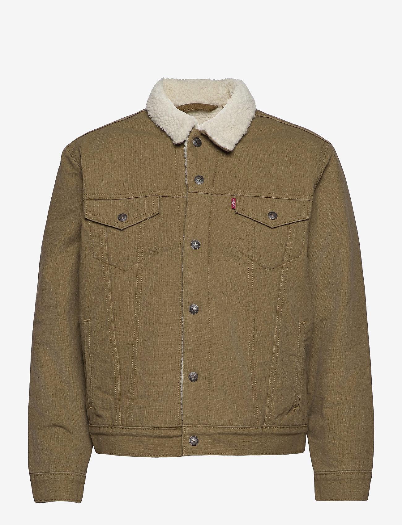 LEVI´S Men - TYPE 3 SHERPA TRUCKER COUGAR C - jeansjackor - neutrals - 0