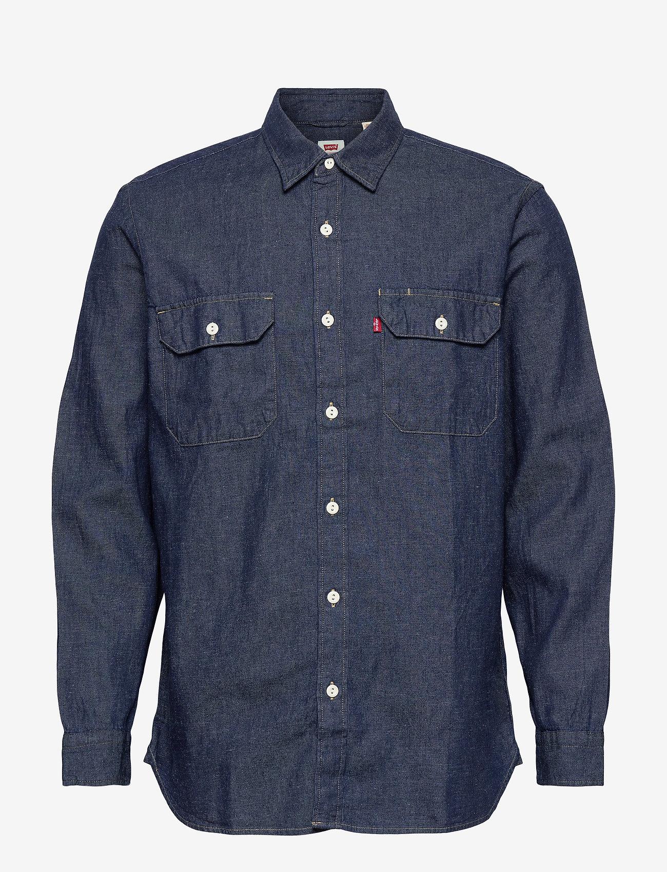 LEVI´S Men - JACKSON WORKER LT WT COTTON HE - checkered shirts - dark indigo - flat finish - 0