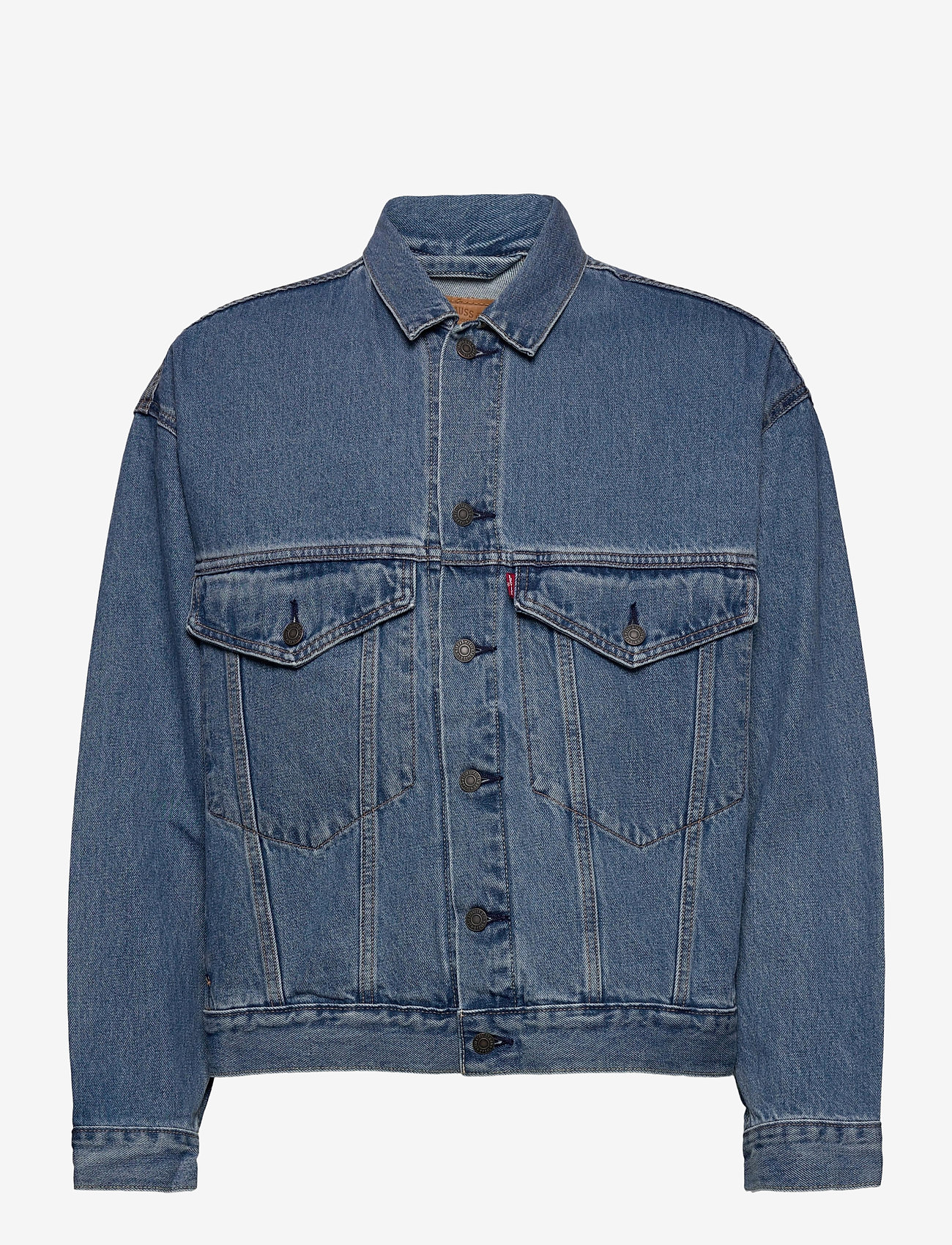 LEVI´S Men - STAY LOOSE TRUCKER HANG LOOSE - denim jackets - light indigo - worn in - 1