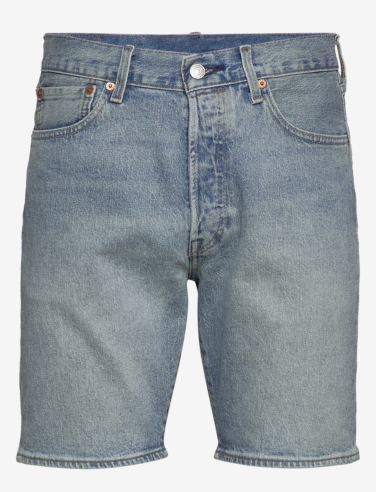 LEVI´S Men - 501 HEMMED SHORT ISLAND STREAM - denim shorts - light indigo - worn in - 0