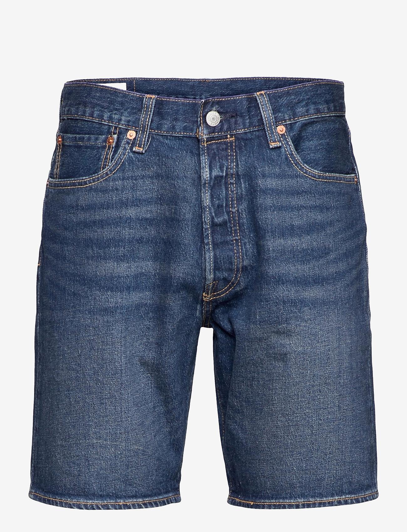 LEVI´S Men - 501 HEMMED SHORT FIRE GOIN SHO - jeansowe szorty - med indigo - flat finish - 0