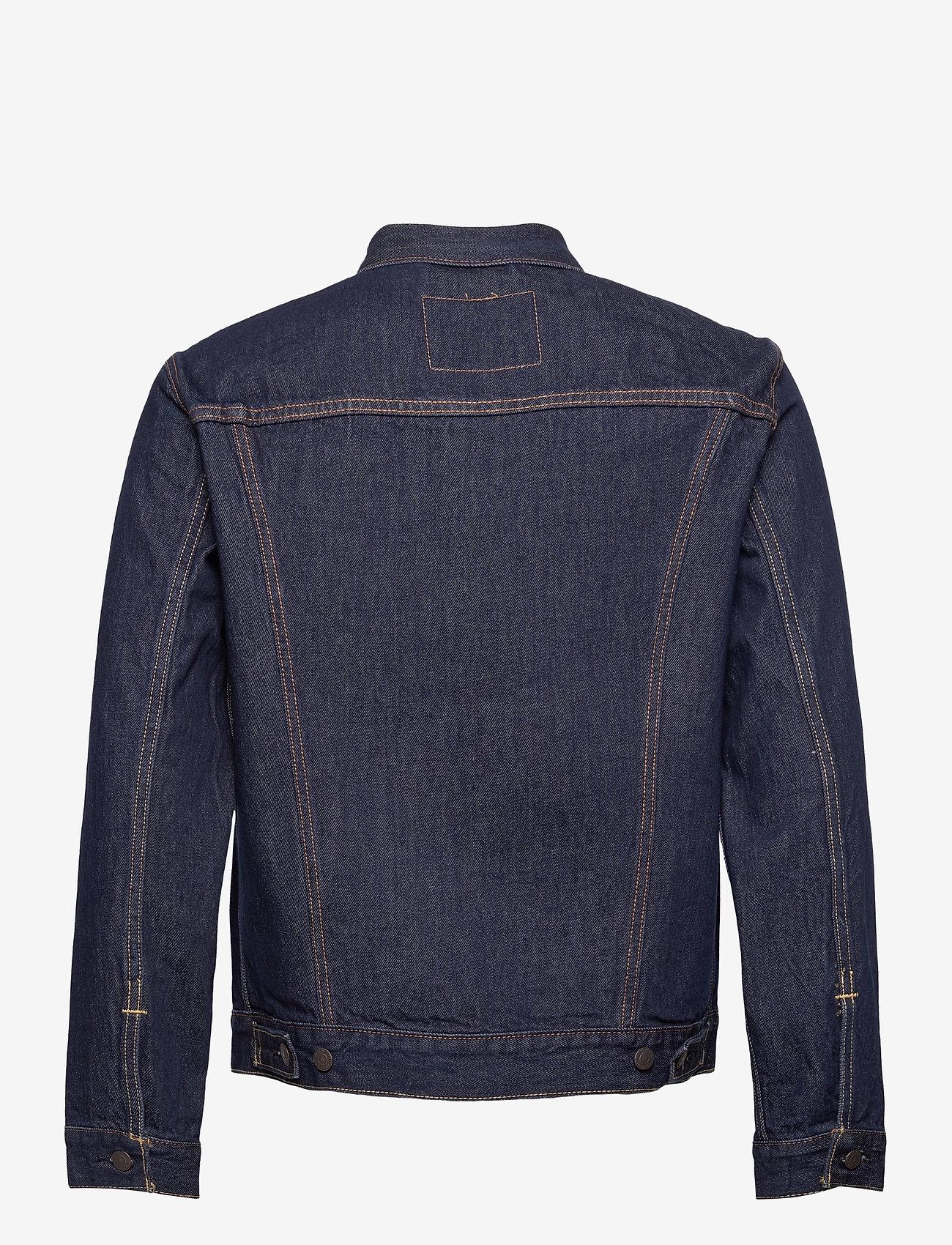 LEVI´S Men - THE TRUCKER JACKET ROCKRIDGE T - vestes en jean - med indigo - worn in - 1