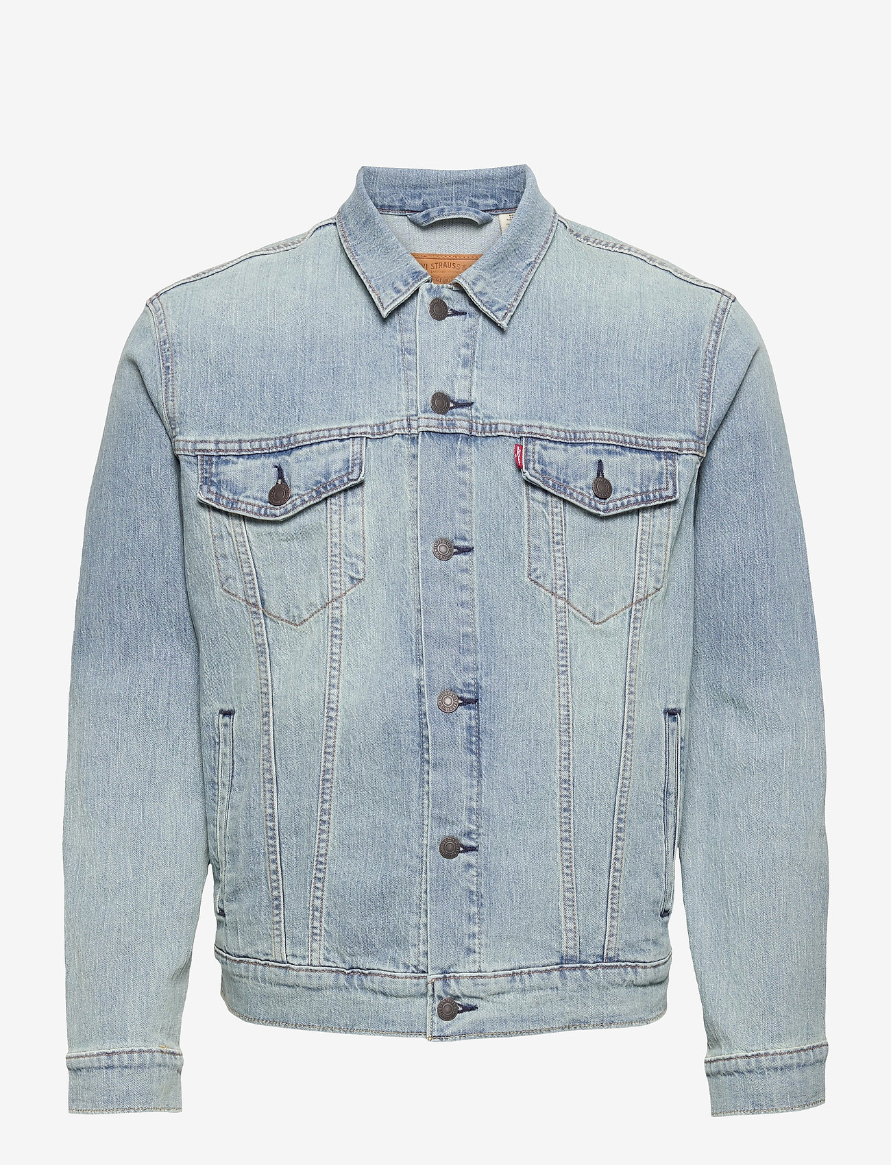 LEVI´S Men - THE TRUCKER JACKET COLDER THAN - kurtki dżinsowe - light indigo - worn in - 0