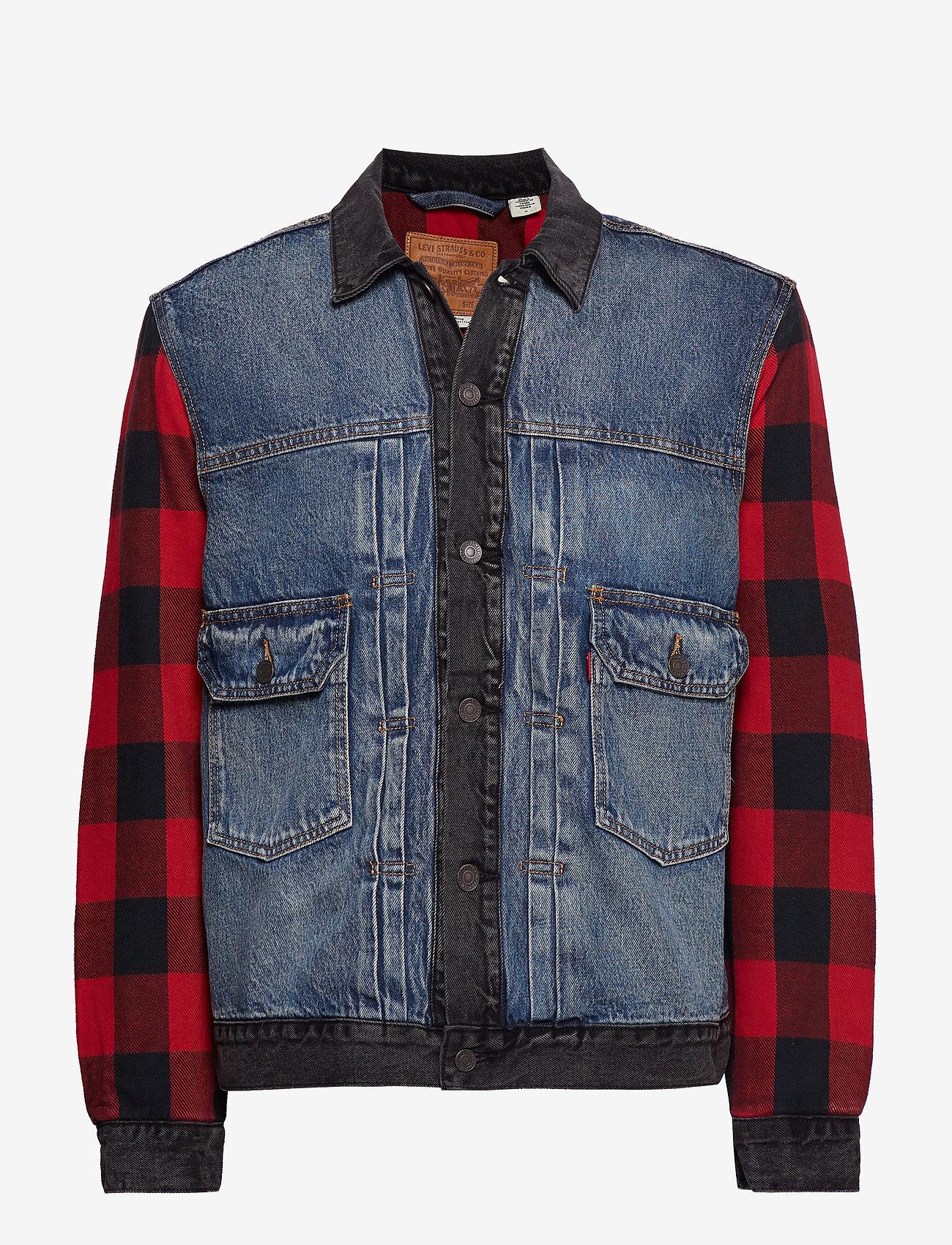 LEVI´S Men - TYPE 2 HYBRID TRUCKER WOODSMAN - vestes en jean - multi-color
