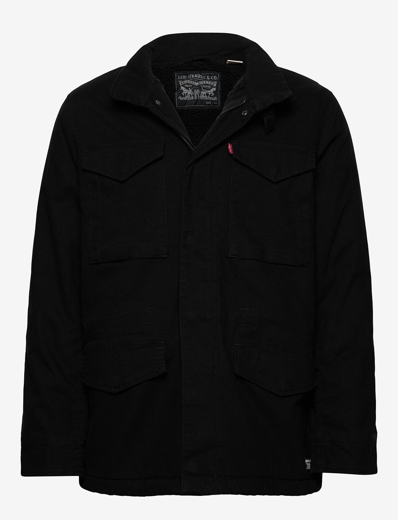 LEVI´S Men - SHERPA FIELD COAT BLACK 05157 - wool coats - blacks - 1