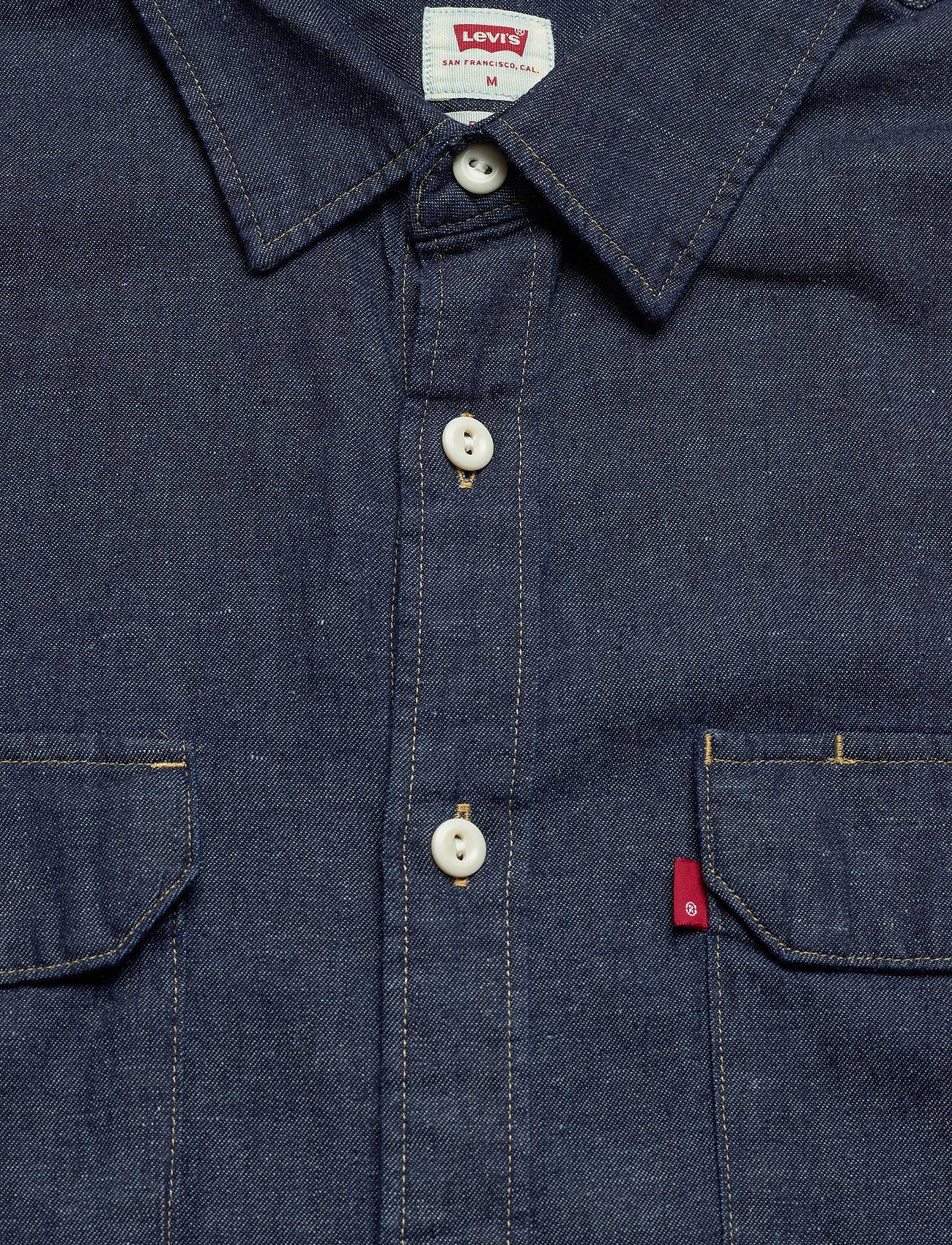 LEVI´S Men - JACKSON WORKER LT WT COTTON HE - chemises à carreaux - dark indigo - flat finish - 2