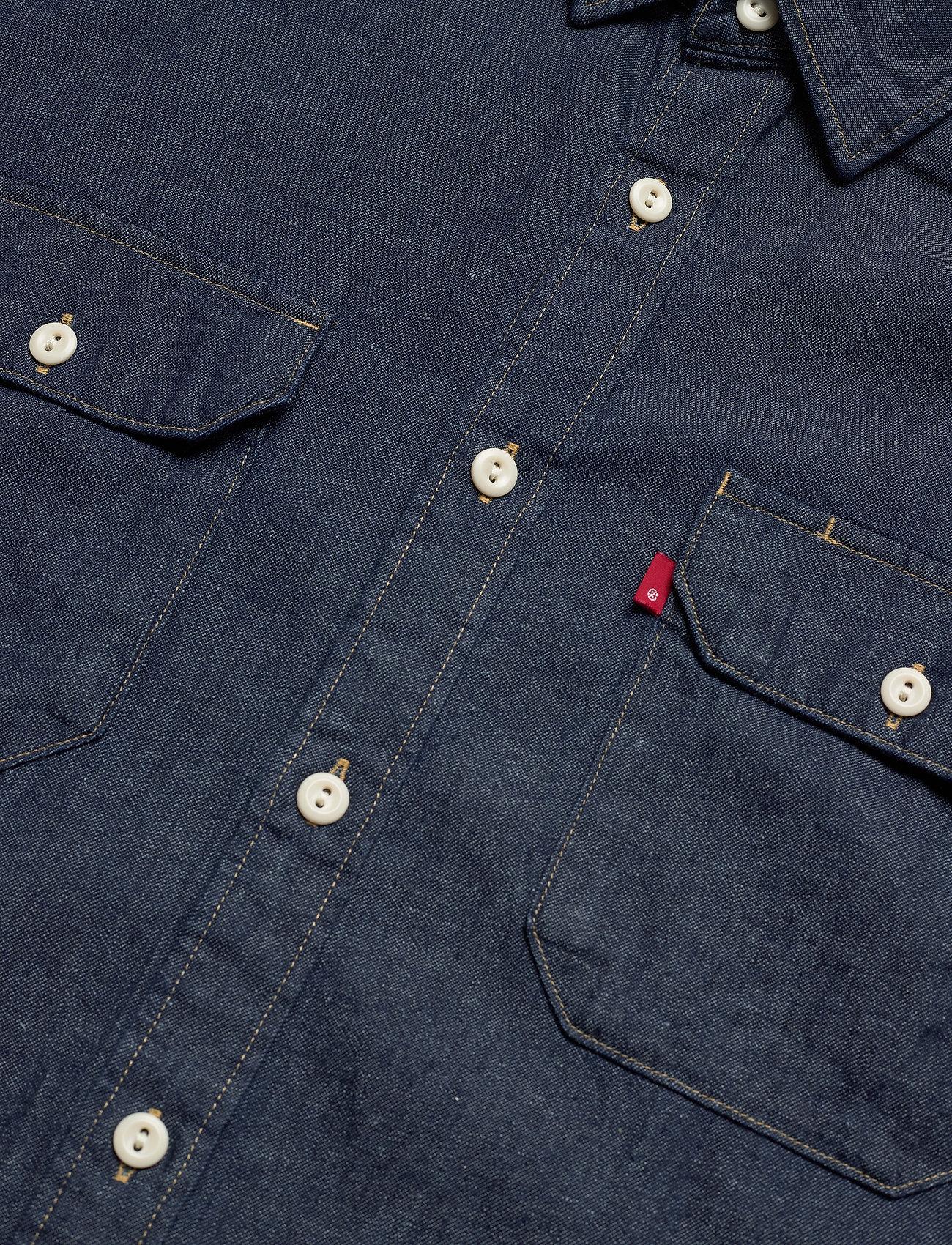 LEVI´S Men - JACKSON WORKER LT WT COTTON HE - chemises à carreaux - dark indigo - flat finish - 3