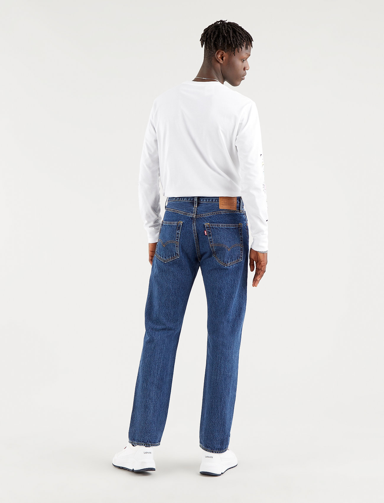 LEVI´S Men - 551Z AUTHENTIC STRAIGHT RUBBER - regular jeans - med indigo - worn in - 3