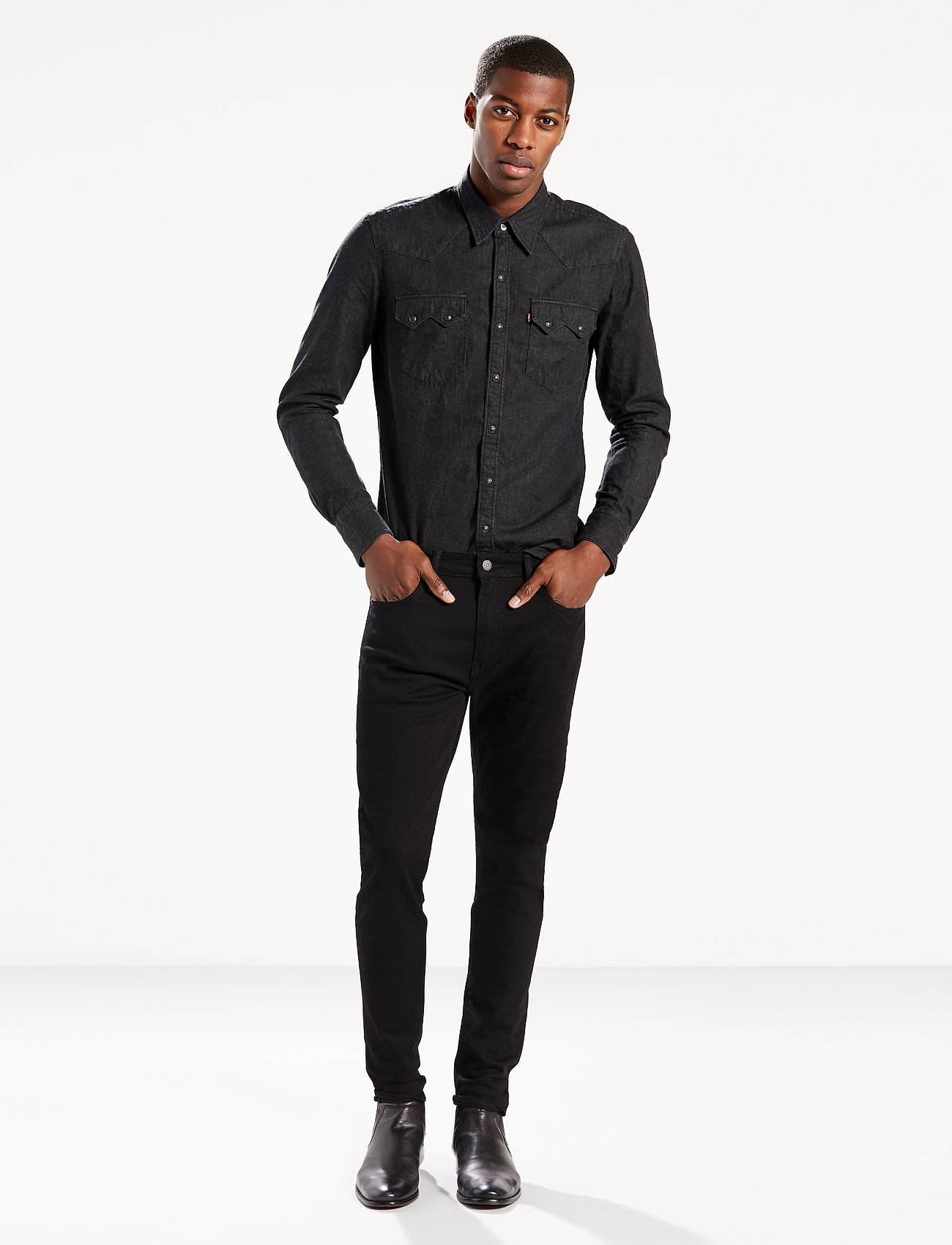LEVI´S Men - 512 SLIM TAPER NIGHTSHINE - slim jeans - blacks - 0