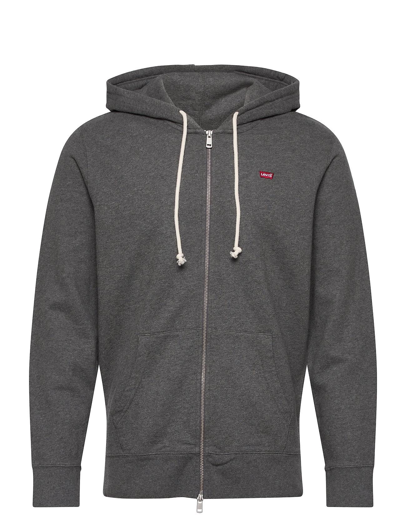 LEVI´S Men - NEW ORIGINAL ZIP UP CHARCOAL H - basic sweatshirts - greys - 1