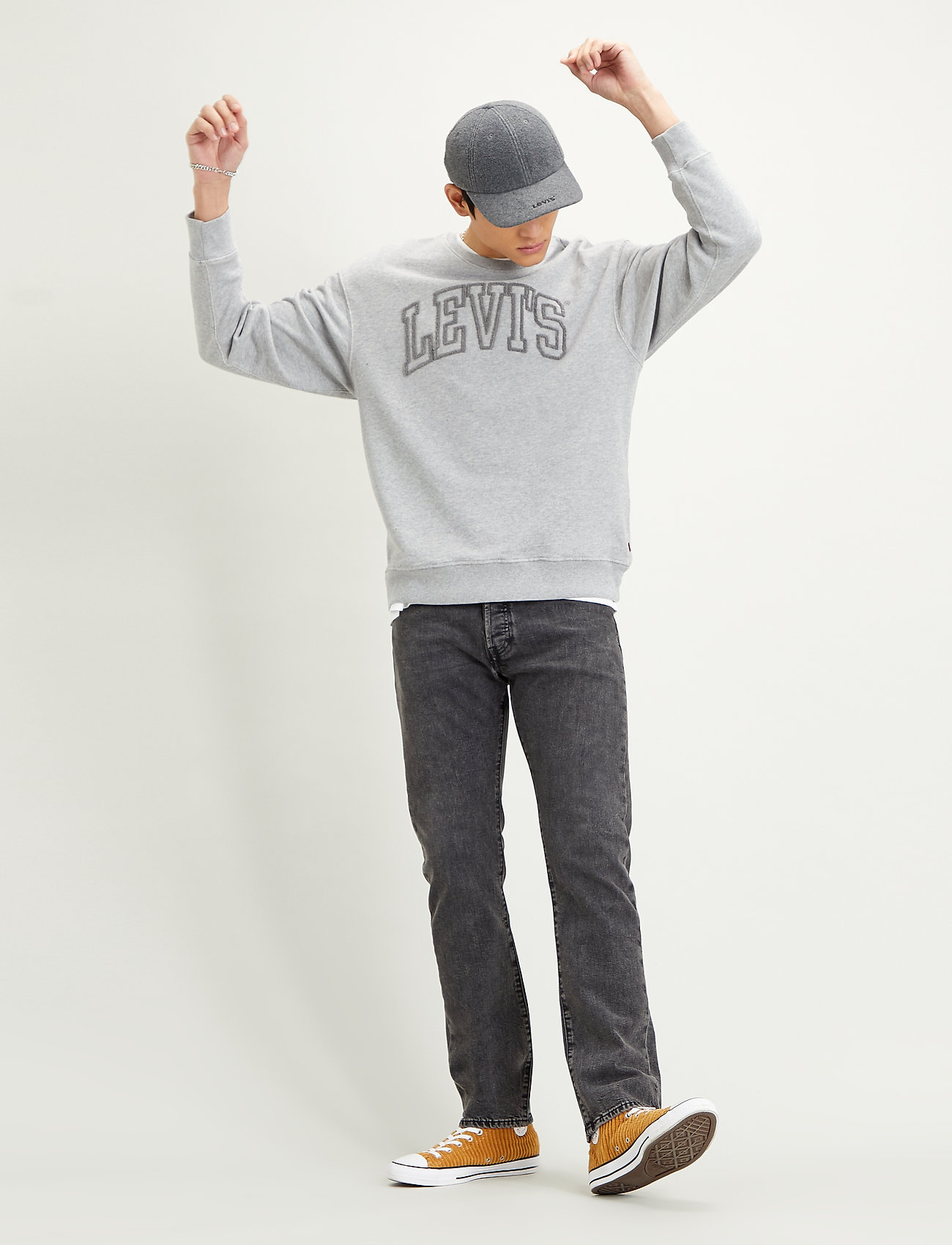 LEVI´S Men - RELAXED T2 GRAPHIC CREW 1873 C - tops - greys - 0