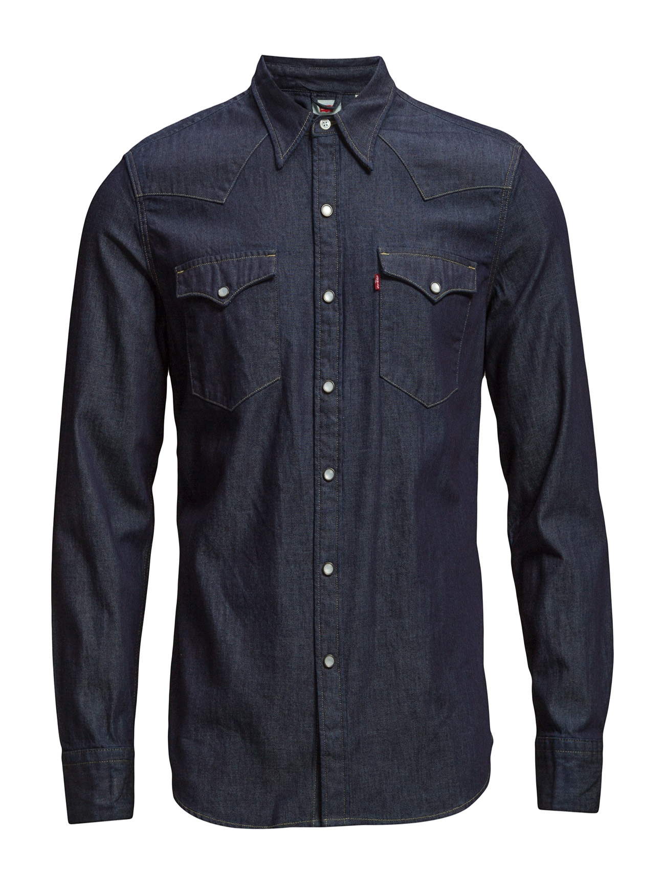 LEVI´S Men - BARSTOW WESTERN RED CAST RINSE - denimowe koszulki - dark indigo - flat finish - 0