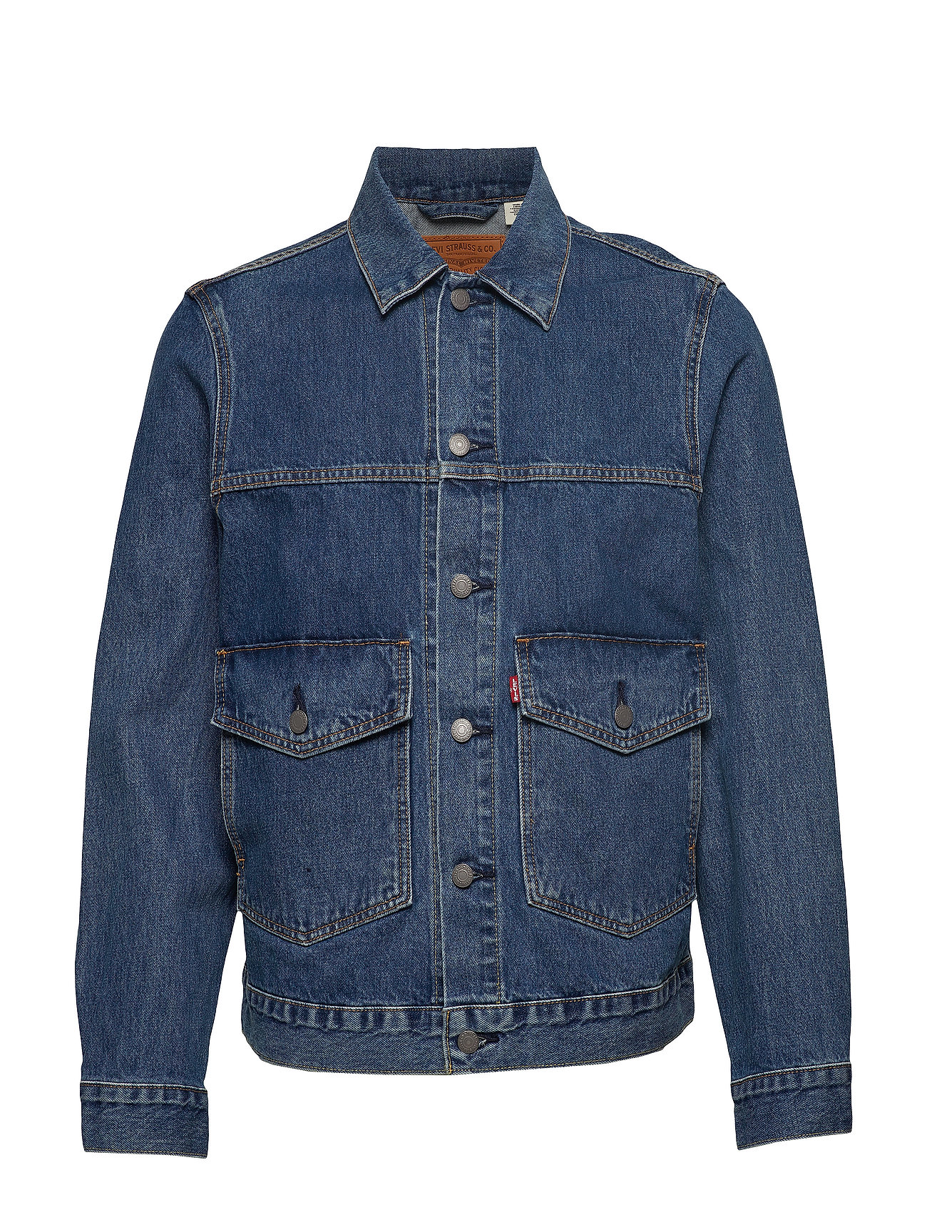 LEVI´S Men PATCH POCKET TRUCKER GEAR BOX - MED INDIGO - FLAT FINISH