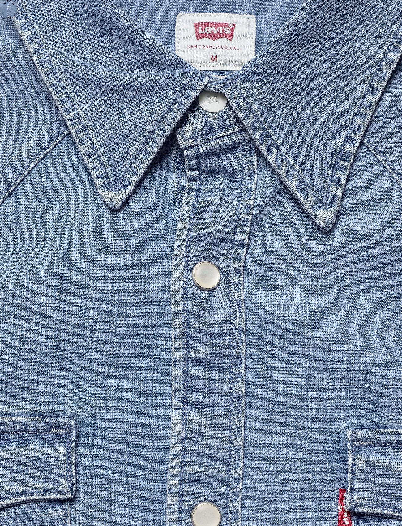 LEVI´S Men - BARSTOW WESTERN STANDARD AUTHE - chemises de lin - light indigo - worn in - 2