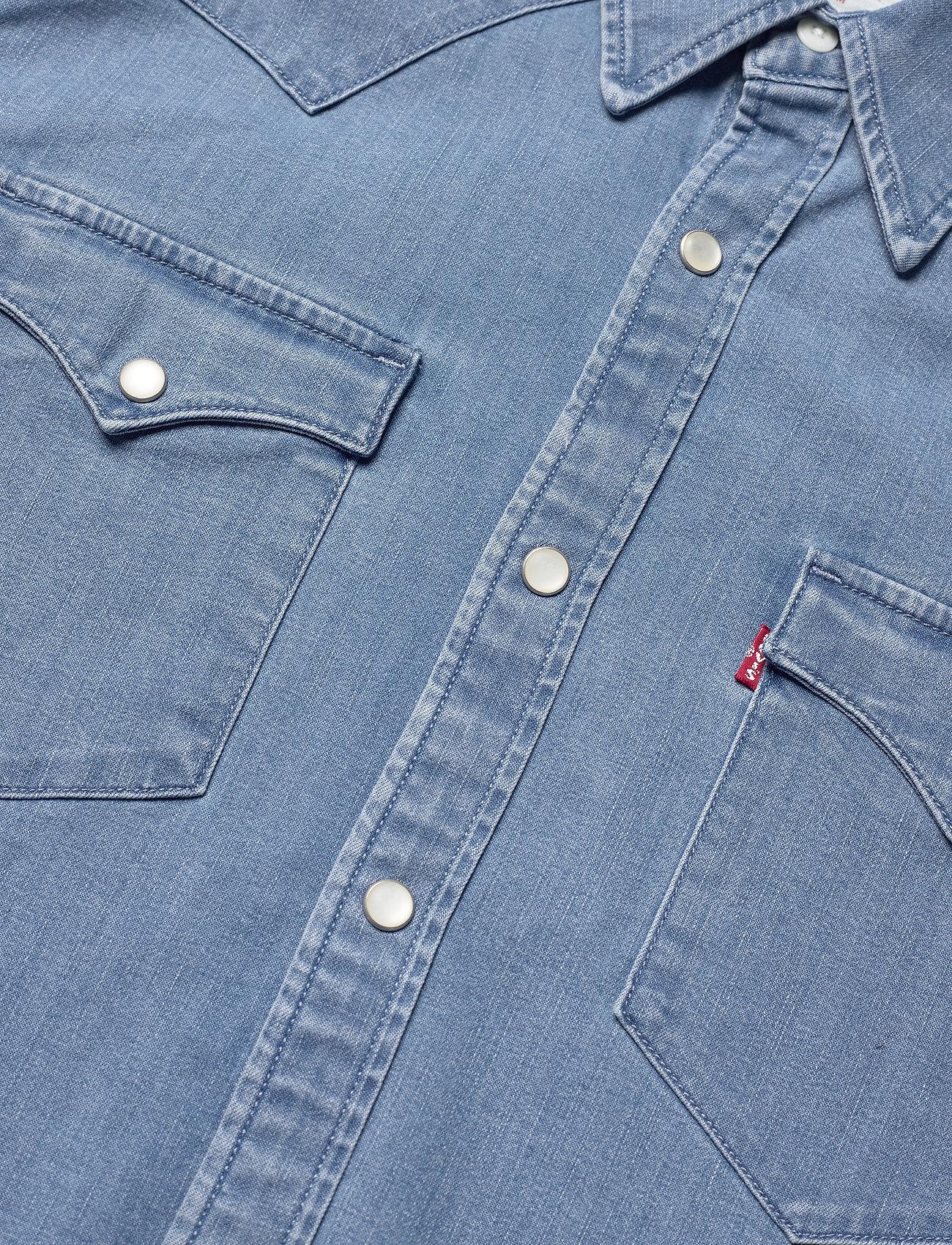 LEVI´S Men - BARSTOW WESTERN STANDARD AUTHE - chemises de lin - light indigo - worn in - 3