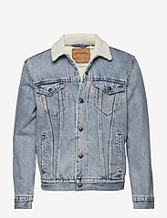 LEVI´S Men - TYPE 3 SHERPA TRUCKER STONEBRI - denim jackets - med indigo - worn in - 0