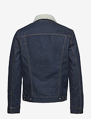 LEVI´S Men - TYPE 3 SHERPA TRUCKER ROCKRIDG - denim jackets - med indigo - worn in - 1
