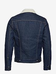 LEVI´S Men - TYPE 3 SHERPA TRUCKER ROCKRIDG - jeansjackor - med indigo - worn in - 2
