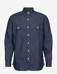 LEVI´S Men - JACKSON WORKER LT WT COTTON HE - checkered shirts - dark indigo - flat finish - 0