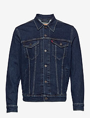 LEVI´S Men - THE TRUCKER JACKET MOON LIT TR - farkkutakit - dark indigo - flat finish - 1
