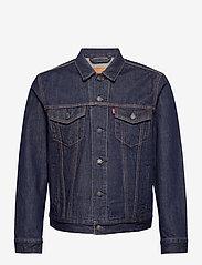 LEVI´S Men - THE TRUCKER JACKET ROCKRIDGE T - vestes en jean - med indigo - worn in - 0