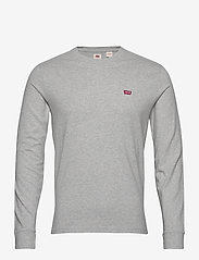 LEVI´S Men - LS ORIGINAL HM TEE MEDIUM GREY - t-shirts basiques - greys - 0