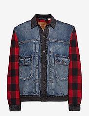 LEVI´S Men - TYPE 2 HYBRID TRUCKER WOODSMAN - vestes en jean - multi-color - 0