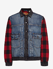 LEVI´S Men - TYPE 2 HYBRID TRUCKER WOODSMAN - vestes en jean - multi-color - 1