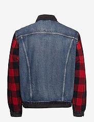 LEVI´S Men - TYPE 2 HYBRID TRUCKER WOODSMAN - vestes en jean - multi-color - 2