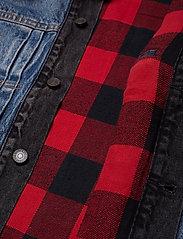 LEVI´S Men - TYPE 2 HYBRID TRUCKER WOODSMAN - vestes en jean - multi-color - 5