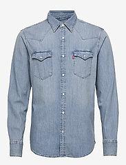 LEVI´S Men - BARSTOW WESTERN STANDARD RED C - linnen overhemden - dark indigo - worn in - 0