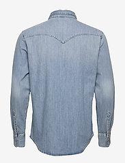 LEVI´S Men - BARSTOW WESTERN STANDARD RED C - linnen overhemden - dark indigo - worn in - 1