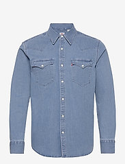 LEVI´S Men - BARSTOW WESTERN STANDARD AUTHE - checkered shirts - light indigo - worn in - 0