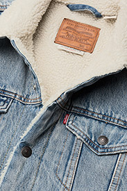 LEVI´S Men - TYPE 3 SHERPA TRUCKER STONEBRI - denim jackets - med indigo - worn in - 3