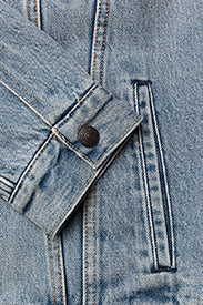 LEVI´S Men - TYPE 3 SHERPA TRUCKER STONEBRI - denim jackets - med indigo - worn in - 4
