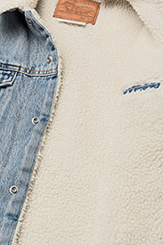 LEVI´S Men - TYPE 3 SHERPA TRUCKER STONEBRI - denim jackets - med indigo - worn in - 5