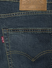 LEVI´S Men - 502 TAPER EAZY SHOCK GREEN - regular jeans - dark indigo - worn in - 4