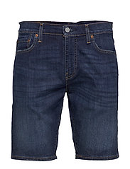 502 TAPER SHORTS 10 RAINSHOWER - DARK INDIGO - WORN IN