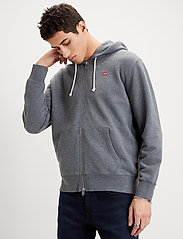 LEVI´S Men - NEW ORIGINAL ZIP UP CHARCOAL H - podstawowe bluzy - greys - 0