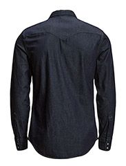 LEVI´S Men - BARSTOW WESTERN RED CAST RINSE - denimowe koszulki - dark indigo - flat finish - 1