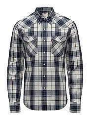 BARSTOW WESTERN WILDCAT DRESS - WILDCAT DRESS BLU